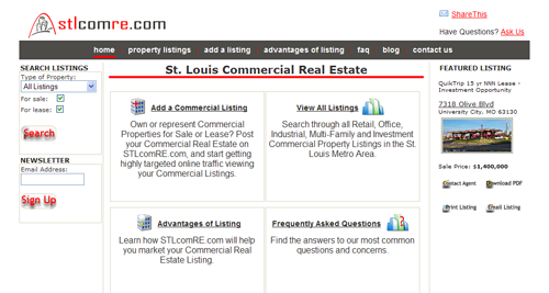 St. Louis Commercial Real Estate Website
