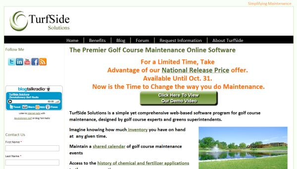 Turfside Solutions website