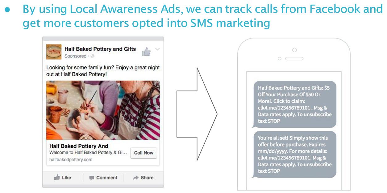 Facebook Local Awareness Ad Example