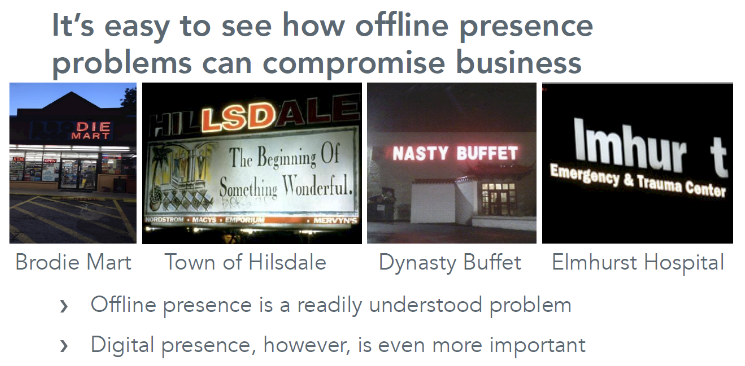 Bad Digital Presence Data