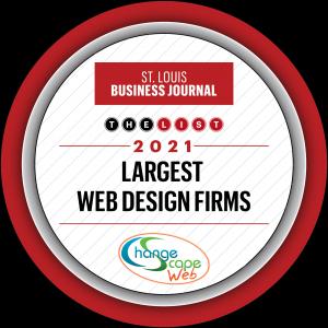 St Louis Business Journal Top Largest Web Design BADGE
